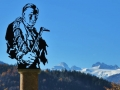 Paul Preuß Denkmal mit Dachstein