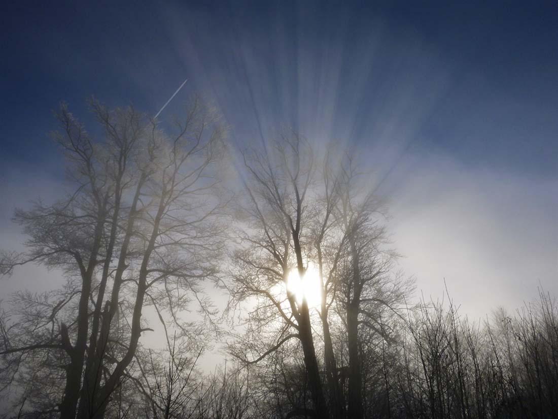 gebrochene Sonnenstrahlen