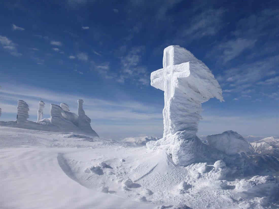 Gipfelkreuz am Schneebergmit Anraum