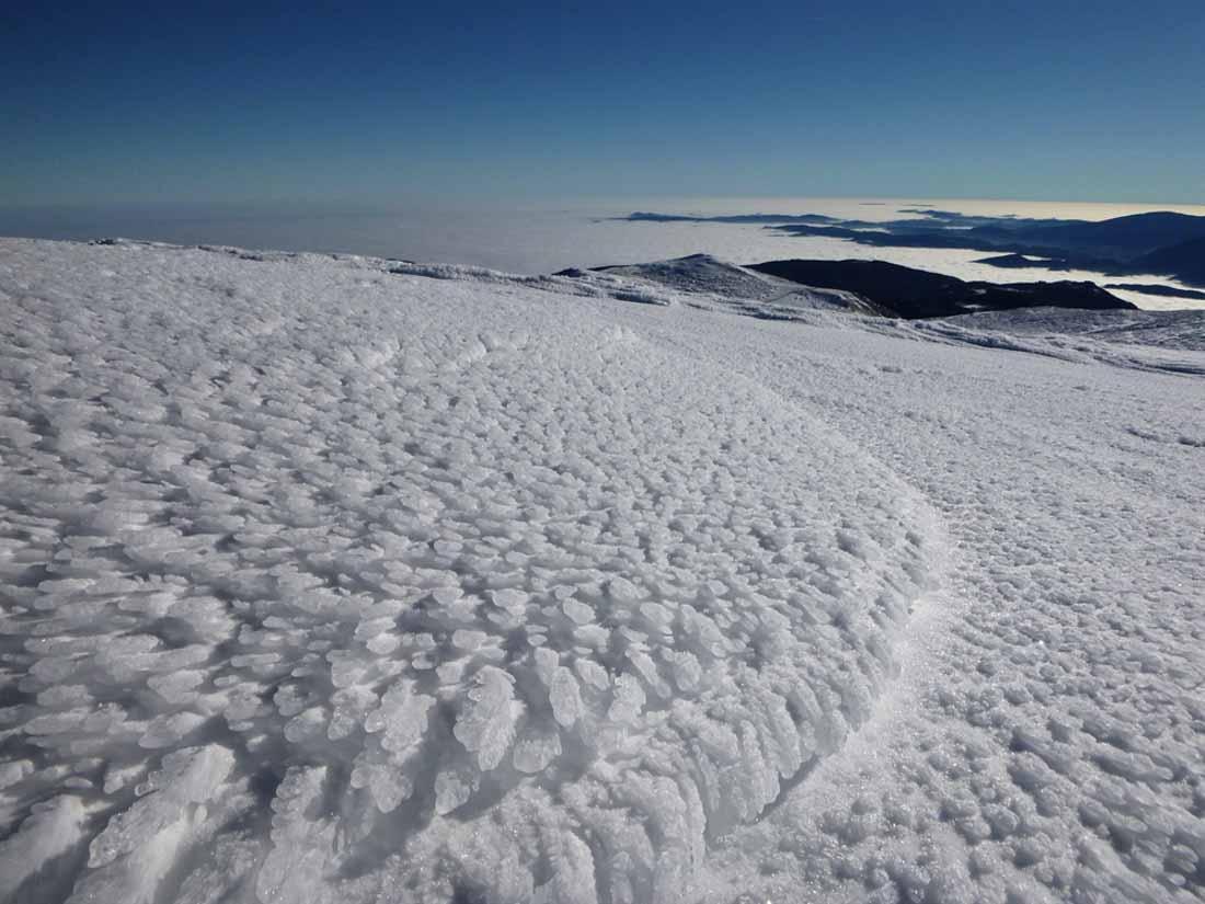 Vereiste Oberfläche am Schneeberg