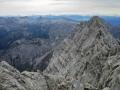 Blick von der Mittelspitze zur Südspitze